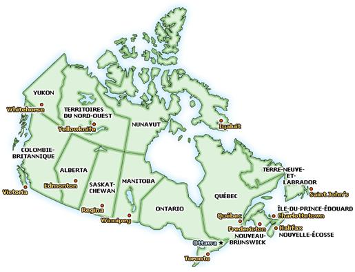Carte Canada Png.4e Annee Revise La Carte Du Canada Les Provinces